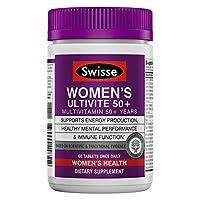 SWISSE 女士50+優質Ultivite每日復合維生素| 富含抗氧化劑和礦物質| 維生素A,維生素C,維生素D,生物素,鈣,鋅等| 60片