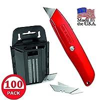 多功能刀具和多功能刀刃:重型剃须刀刀片,带分配器,100 个装
