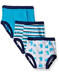 Luvable Friends Baby 4 Pack Training Pants 蓝色鲸鱼 3T