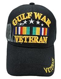 海湾战士退伍军人棒球帽黑色美国面帽军**陆战队*