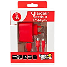 Undercontrol 6 合 1 包装主充电器电源 适合 DSI XL/DSI/DS LITE/3DS XL/3DS/2DS 红色