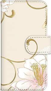 智能手机壳 手册式 对应全部机型 印刷手册 wn-470top 套 手册 花朵图案 UV印刷 壳WN-PR061428-MX AQUOS Xx2 502SH B款