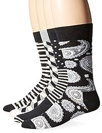 快乐袜男式精梳棉袜礼盒装,4件装