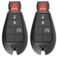 BESTHA 4 键钥匙扣 兼容 2013-2018 道奇 Ram 1500、2013-2018 道奇 Ram 2500 3500 无钥匙进入遥控器替换件 适用于 Fobik GQ4-53T