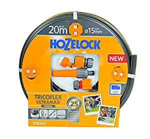 hozelock tricoflex ultramax 软管入门套装灰色12.5MM x 25M