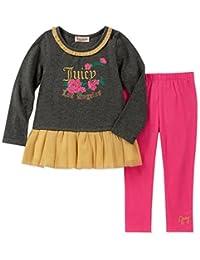 Juicy Couture 橘滋 女童 2 件套束腰外衣打底裤套装
