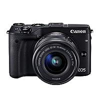佳能Canon EOS M3 15-45mm微单反相机 高清自拍数码相机 (官方标配, 黑色)