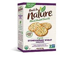 Back To Nature - Stoneground麦子薄脆饼干原始 - 6盎司