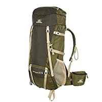 BIGPACK派格 男女通用 50+10L 户外登山包徒步双肩背包带防雨罩 BP4400101