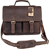 Woodpecker 真皮牛皮 15.5 英寸真皮邮差包 男式笔记本电脑斜挎包 单肩包 公文包 Macbook 挎包