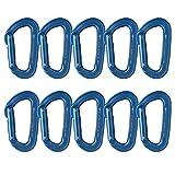 Fusion Climb Contigua 改装直门改装 D 形钩环 蓝色 10 件装