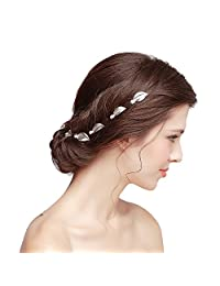 M Bridal Women's *s Leaf Style Hairpin Wedding and Party Hair Accessory O714