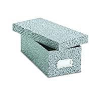 Oxford Reinforced Board 3 x 5 Card File With Lift-Off Cover, Black/White Agate,1 per Box (40588)
