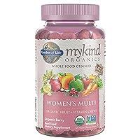 Garden of Life (生命花园) - mykind 有机物妇女多整个食品软糖浆果 - 120 软糖