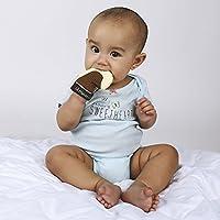 Lil Friendz & Co. YumYumz 宝宝磨牙连指手套 - 冰淇淋锥玩具手套,牙齿和牙龈舒缓*,使用不含 BPA,男女宝宝使用食品级硅胶,适合 3 个月以上宝宝