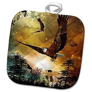 3drose heike köhnen 设计 ANIMAL BIRD–Awesome 飞鹰–防烫套垫