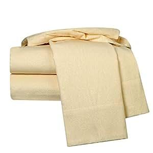 clara Clark 100% 埃及长绒棉法兰绒4件套床单套装,