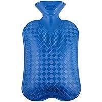 fashy 费许 斜格纹热水袋 6420蓝色2.0L 德国进口(绒布外套颜色随机)
