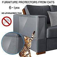 Binary Barn 猫防刮保护罩,猫咪家具保护罩和沙发防护罩,宠物家具保护罩,训练宠物和保护家具的*佳,*值得信赖的方式 每包6条