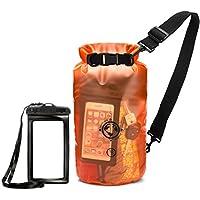 Earth Pak 防水袋和防水手机壳 - 10L / 20L - 透明,因此您可以查看您的装备 - 防划艇、露营、划船、钓鱼、狩猎的同时确保物品*可靠