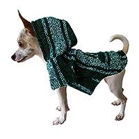 Yani's Gifts 巴哈斗篷狗狗衣服,保暖狗 Serape,舒适正品巴哈狗连帽衫,狗狗舒适的Jerga斗篷,深*小狗用地毯帽衫(S 码)