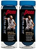 Penn Ultra-Blue Racquetballs, 3 Pack Racquet Balls 蓝色 Two cans
