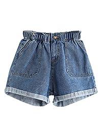 floerns 女式 ' 弹性腰围夏季牛仔短裤牛仔裤