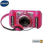 VTech 伟易达 KIDIZOOM Duo DX 1 粉色数码相机带10种不同功能(3480-520057)