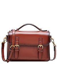 BOYATU 女士皮革斜挎包钱包单肩桶包提手