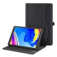 Fintie 保护套适用于 Vankyo MatrixPad S20 10 英寸平板电脑 - [解放双手] 多角度对开智能支架保护套带口袋,笔座适用于 10 英寸 MatrixPad S20(黑色)