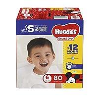 HUGGIES 好奇 Snug & Dry 舒适干爽纸尿裤 80份 6号 80