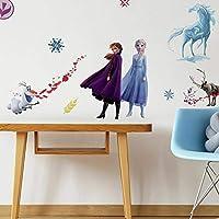 RoomMates RMK4075SCS 冰雪奇缘 II 即剥即贴墙贴,蓝色。 白色,紫色