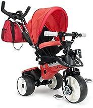 Injusa 成长型三轮车 适用于8个月婴儿,父母控制方向和车轮,红色(3271)