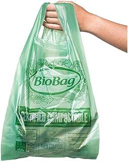 BioBag,原装可堆肥袋,罐衬,ASTMD6400,生物降解产品研究所和VINCOTTE OK Home 认证,48加仑,80个 600 Count Small Shopper