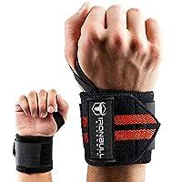 护腕带(45.72cm 优质),用于举重力、塑身、举重 - 用于举重力训练的护腕支架