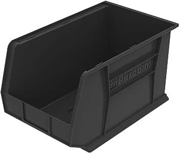 Akro-Mils 塑料储物堆放 AkroBin,45.72 x 27.94 x 25.4 厘米,6 盒 18-Inch by 11-Inch by 10-Inch 30260BLACK