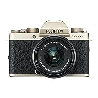 Fujifilm X-T100 摄像机带 XC15-45 mm 镜头X-T100 香槟金