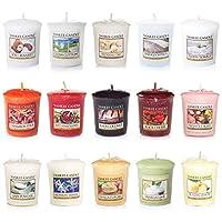 yankee Candle fragranced 许愿 sampler 蜡烛和玻璃许愿支架套装