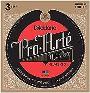 D'Addario EJ44 Pro-Arte 尼龙经典吉他弦EJ45-3D 3 件装 Normal Ten