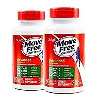 2瓶装|Schiff Move free旭福维骨力氨糖软骨素加MSM绿瓶运动版 2 * 120粒 (美国品牌)包税包邮