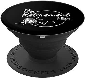 Knitting Retirement Plan 纱线钩针针织衫 - PopSockets 手机和平板电脑抓握支架260027  黑色
