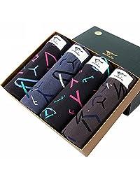 【2盒减10元】七匹狼纯棉内裤男士平角裤透气舒适礼盒装