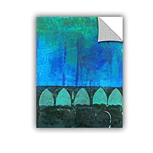 """ArtWall Elana Ray's Blue Green Abstract Appealz Removable Graphic Wall Art, 24 x 32"""", Multicolor"""
