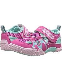 TSUKIHOSHI Kids Girl's Ibiza2 (Toddler/Little Kid) Fuchsia/Mint Quick-Dry Sneaker
