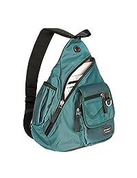 Vanlison 单肩包背包斜挎包 13 英寸 14 笔记本电脑单肩包旅行背包黑色bk1082