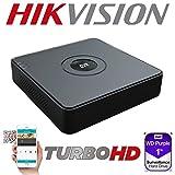 HIKVISION 4CH 4 CHANNEL DVR TURBO HD 2MP 1080P 自适应信号电视 AHD HDCVI CVBS(模拟)摄像机 * 视频录制 HIWATCH 系列 H.264 H.264+ WD 紫色 HDD SATA 1TB 2TB 4TB 6TB 1920 X 1080 PTZ 支持 HDMI VGA 视频输出 P2P 指导视觉应用程序 QR CODE APPLE ANDROID WINDOWS DVR-104G-F1 DVD播放机和 刻录机 黑色 1TB WD PURPLE HDD