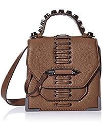 Mackage 女式 粗鞣皮手提包单肩包斜挎包 RUBIE (亚马逊进口直采,美国品牌)