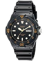 Casio 男士 MRW200H-1EV 潜水手表黑色表带