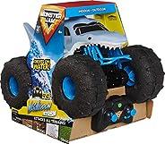 Monster Jam 6056227 – 巨齿龙风暴遥控 鲨鱼外观 适用于国家和水,比例1:15