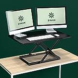 Zinus 智能调整立式桌子/可调节高度桌面工作台/36英寸 x 24英寸 / 黑色